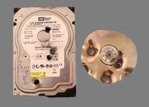 hard drive bullet