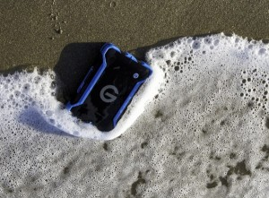 g-tech submerged in water