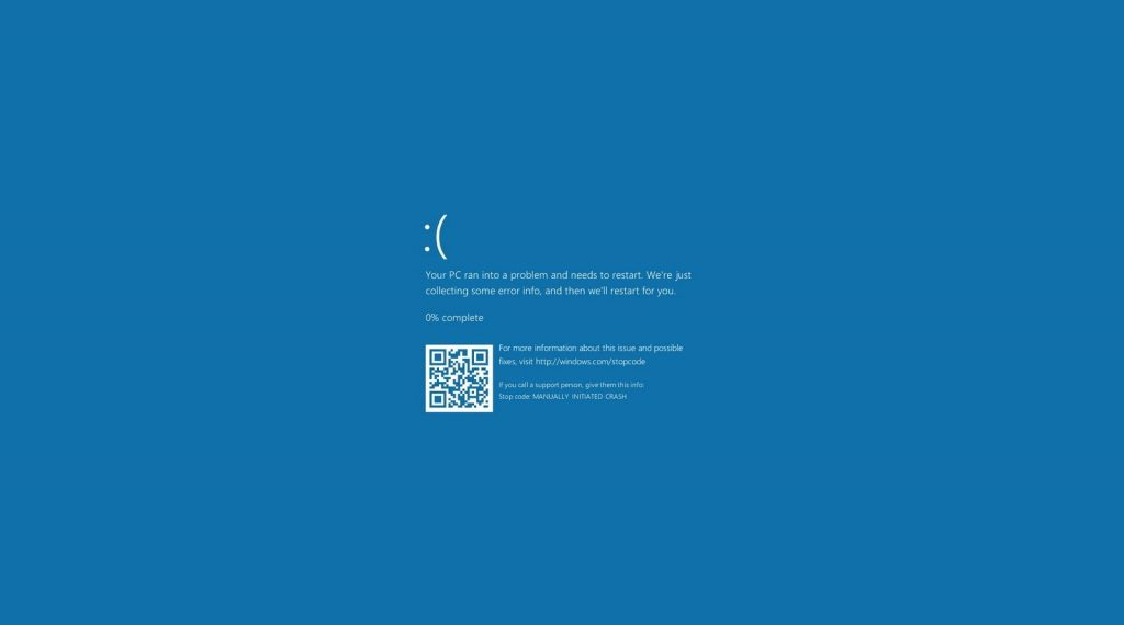 Blue screen of death – And What to do After you see that
